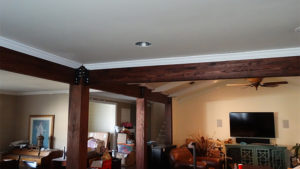 New beams and posts with crown
